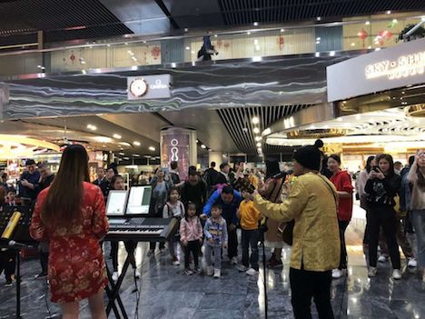 マカオ国際空港で開催された春節イベントの様子(写真:CAM)