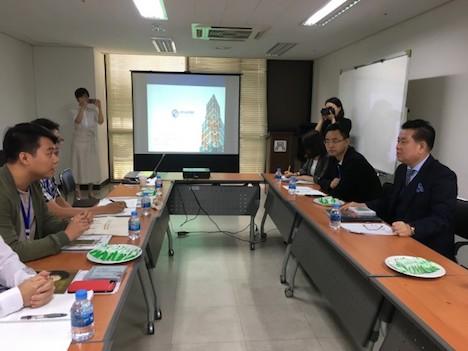 2018年の交流団が韓国を訪れた際の韓国音楽協会との交流の様子(写真:澳門基金會)