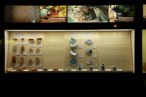 リニューアルされたマカオミュージアムの考古資料展示コーナー(写真:ICM)