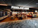 マカオ国際空港旅客ターミナルビルの制限エリアに新オープンしたフードコート「FOODLANE」(写真:CAM)