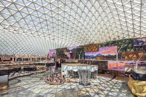 ギネス世界記録を達成したMGMコタイ中央にあるスペクタクル広場の屋根部分(写真:MGM)