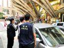 マカオ治安警察局が市中で破壊行為を繰り返した容疑で韓国人の男を逮捕=2019年4月15日(写真:マカオ治安警察局)