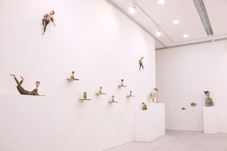 マカオ・ラザロ地区のAlbergue SCMで展示される葉栗里さんの作品の一部(写真:婆仔屋文創空間 Albergue SCM)