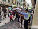 マカオ治安警察局は警察官を増派して交通整理や旅客のサポートにあたるとしている(写真:マカオ治安警察局)