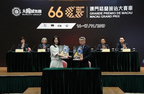 第66回マカオGP冠スポンサー契約式典=2018年5月22日(写真:Macau Grand Prix Organizing Committee)