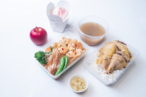 タクシードライバーに配布された弁当のイメージ(写真:Sands Macao)