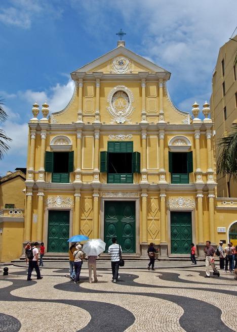 マカオの世界遺産「聖ドミニコ教会」(写真:ICM)