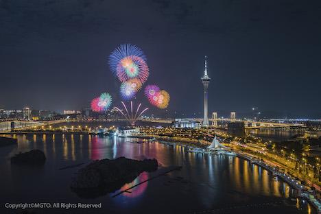 今年で30回目の開催となる「マカオ国際花火コンテスト」のイメージ(写真:MGTO)