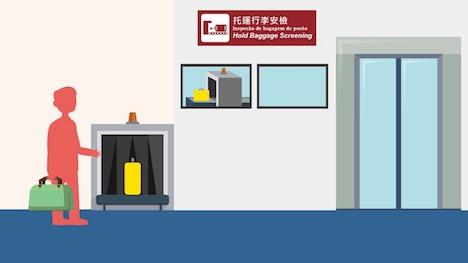 預入手荷物検査コーナーのイメージ(図版:CAM)