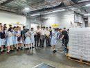 大型IR「ザ・パリジャン・マカオ」のバックヤードを見学に訪れた蔡高ハイスクールの生徒ら(写真:Sands China Limited)