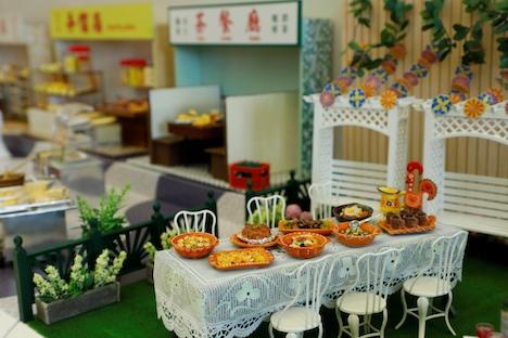 マカニーズ料理を再現した作品(写真:SJM/Grand Lisboa)