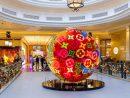 ショップス・アット・フォーシーズンズに展示されているルイ・ヴィトンのクリスマス飾り(写真:Sands Shoppes Macao)