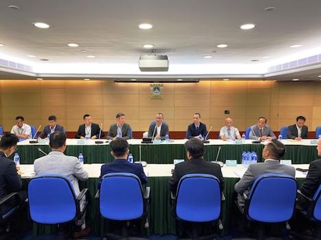 マカオ当局とカジノ運営6社による定例会議の様子=2019年11月8日(写真:マカオ司法警察局)
