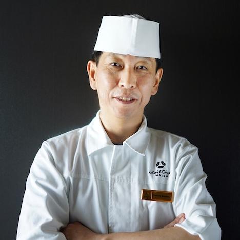 ホテルオークラマカオ日本料理「山里」の新料理長に就任した武田守弘氏(写真:Hotel Okura Macau)