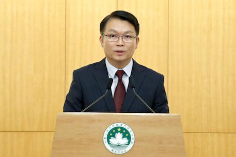 マカオの新・経済財政庁長官に任命された李偉農氏=2019年12月2日、マカオ政府本部ビル(写真:GCS)