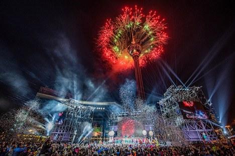 「マカオ・インターナショナル・パレード2019」のクロージングイベント=マカオ・西灣湖広場(写真:ICM)