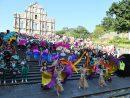 「マカオ・インターナショナル・パレード2019」=マカオ・聖ポール天主堂跡前(写真:ICM)